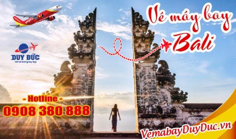 Vé máy bay đi Bali hãng Vietjet Air