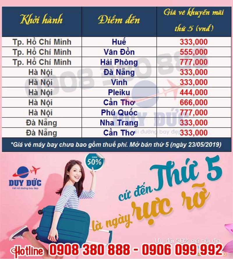 Thứ 5 rực rỡ, săn vé Vietnam Airlines giảm giá 50%