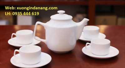 bộ ấm trà, bộ tách trà gốm sứ quà tặng khách hàng Quảng Bình
