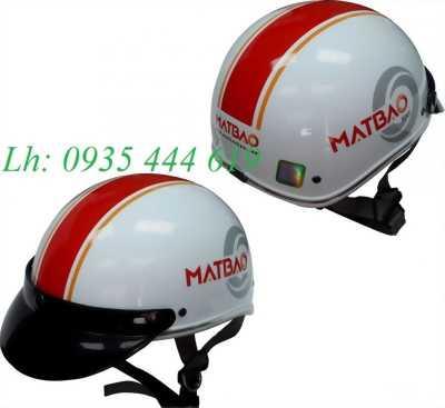 Mũ bảo hiểm in logo quảng cáo thương hiệu tại Huế