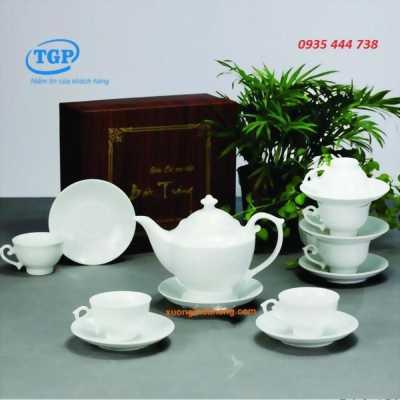 Sản xuất bộ ấm trà quà tặng- in logo theo yêu cầu0935444738
