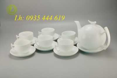 Quà tặng khách hàng ấm chén trà,bộ tách trà sang chảnh tại Quảng Ngãi