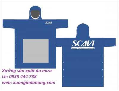 Sản xuất áo mưa quảng cáo tại Quảng Ngãi- in logo áo mưa quà tặng