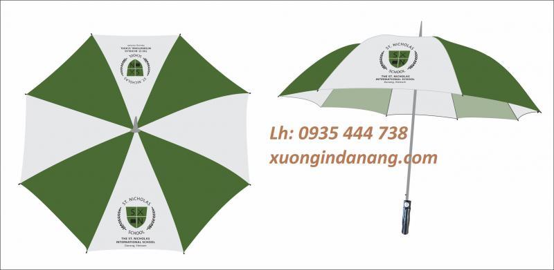Sản xuất dù cầm tay   in logo dù cầm tay tại Quảng Ngãi