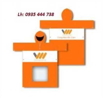 Áo mưa quảng cáo in logo công ty tại Quảng Ngãi