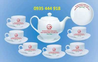 Xưởng sản xuất in ấn bộ ấm trà in logo Đà Nẵng