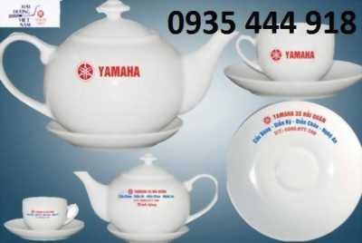 in logo cốc sứ bộ ấm trà Đà Nẵng
