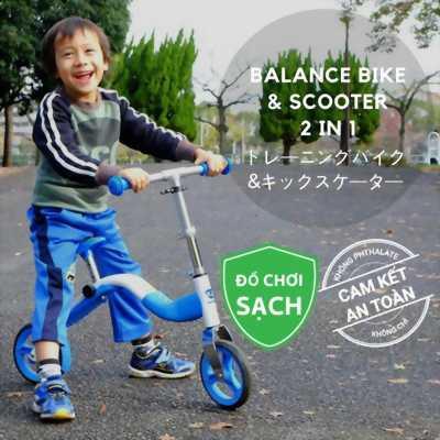Xe đạp cân bằng và scooter 2 trong 1 cho trẻ từ 2 đến 6 tuổi
