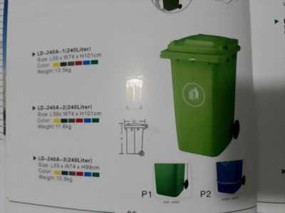 Thùng rác 100l 120l 240l tại Hà Nội bán giá ưu đãi bán