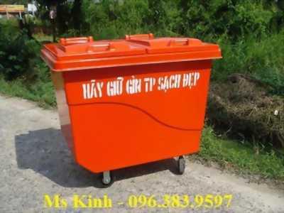 nơi bán thùng rác công nghiệp ở tiền giang, bán thùng rác công cộng giá rẻ, thùng rác 240l