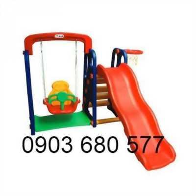 Chuyên bán cầu trượt kèm xích đu cho trẻ em giá rẻ, chất lượng cao
