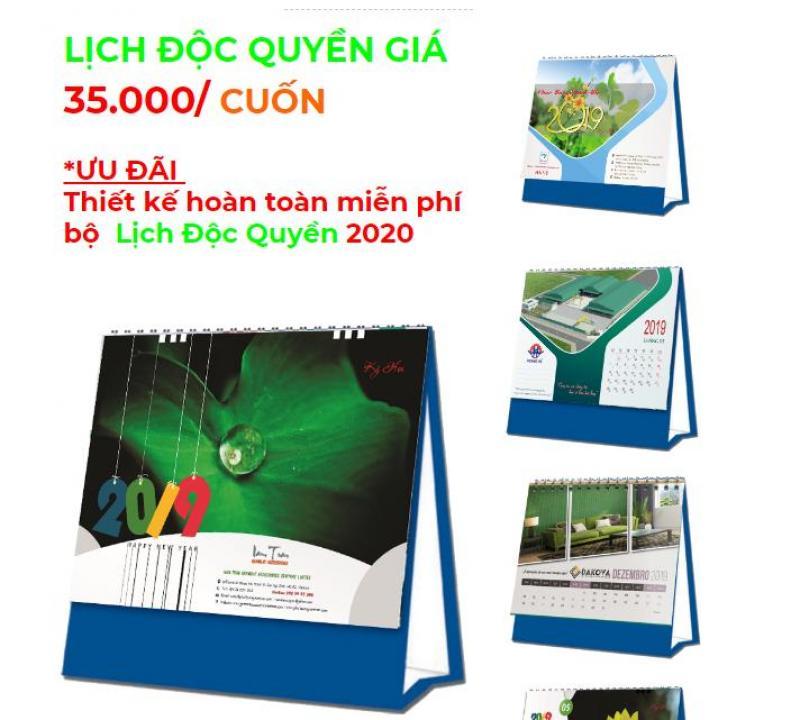 In lịch tết 2020, thiết kế miễn phí lịch độc quyền 2020