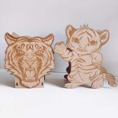 Hộp bút hình thú bằng gỗ handmade