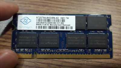 Ram laptop Nanya 2GB DDR2 - Bus 800MHz - PC2 - 6400S