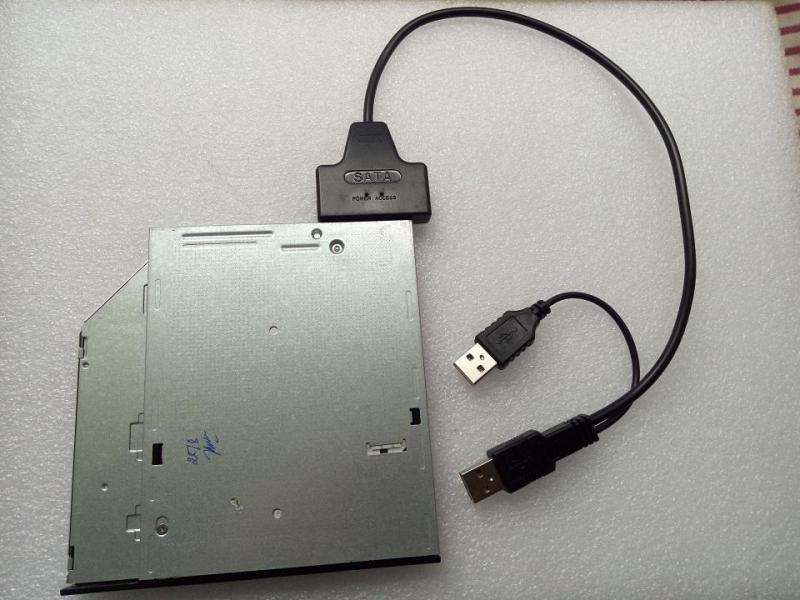 Cáp chuyển ổ DVD laptop ra cổng USB(Thiết kế mới)