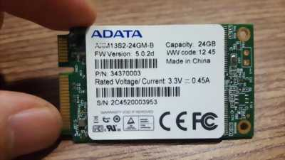Ổ cứng laptop mSATA 24GB SSD ADATA | ổ cứng msata