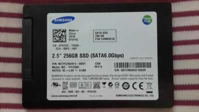 Ổ cứng laptop Samsung 256GB SATA 3, hàng tháo máy