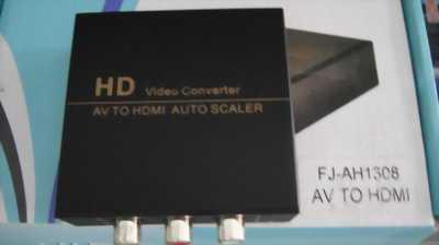 Bộ đổi hình ảnh HDMI ra AV có Audio in/out FJ-AH1308