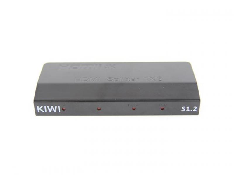 Bộ chia Chính hãng 1 ra 2 HDMI Kiwi S1.2 hỗ trợ dây