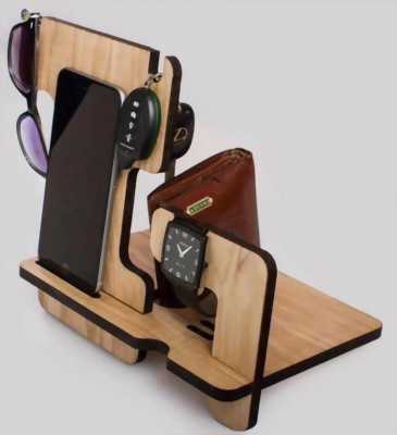 Kệ điện thoại gỗ nhà e tự làm nhận đặt theo yêu cầu