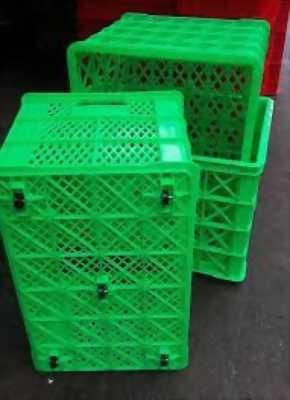 Rổ nhựa có bánh xe đựng hàng - rổ nhựa đựng hàng may mặc giá tốt