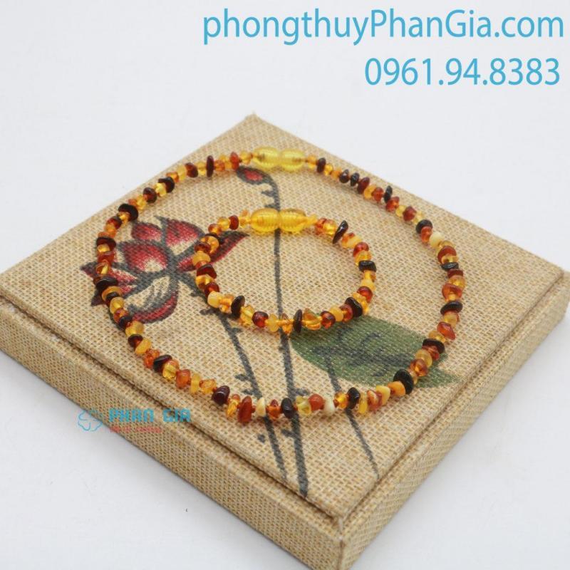 Vòng Hổ Phách Cho Bé Tại Đồng Nai - Phong Thủy Phan Gia