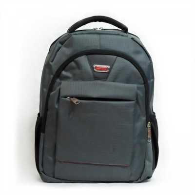 Ba lô laptop văn phòng màu xám xanh caro nhí BALOSUMO0014