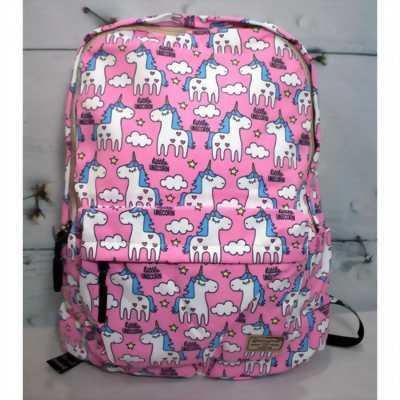 Balo màu hồng in kỳ lân ngũ sắc Unicorn BALO0003