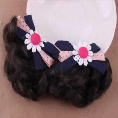 Kẹp tóc cho bé tại Tân Bình, tóc giả nơ tím than hoa