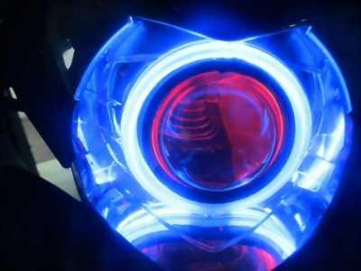 Đèn led bi cầu xe máy