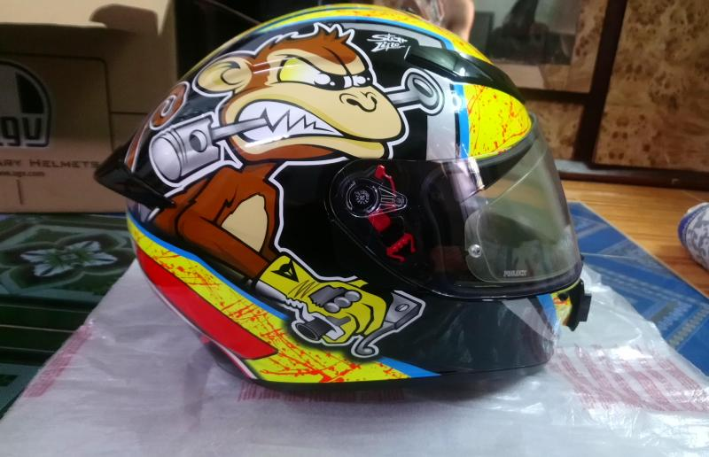 Mũ bảo hiểm Fullface Agv K3 sv tem con khỉ