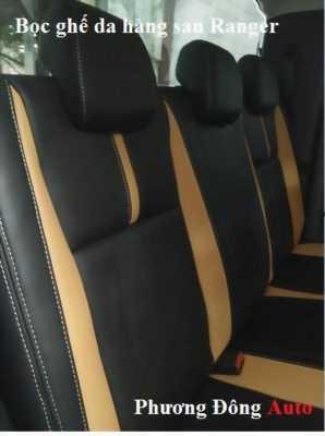 Bọc ghế da Ford Ranger 2014 màu kem + da bò