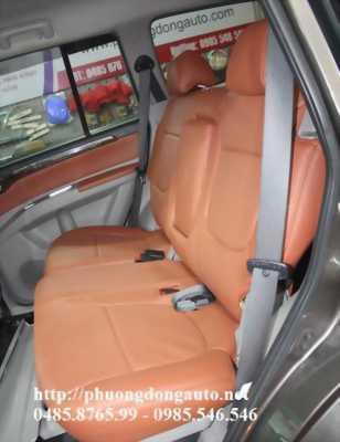 Bọc ghế da thật cn Toyota Highlander 2008 | da đặc biệt màu vàng đất