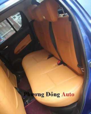 Bọc ghế da CN loại 1 Singapor màu vàng bò cho xe Swif 2016