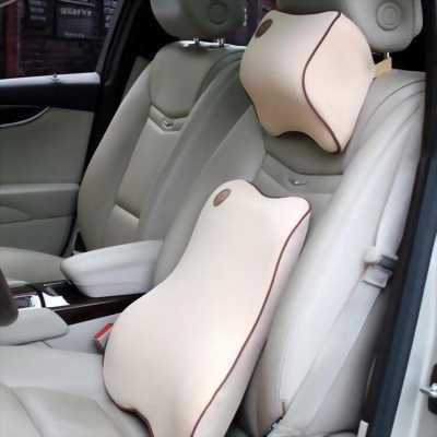 Bộ gối tựa đầu và lưng cao su non cho ô tô