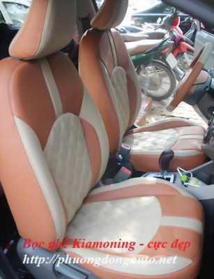 Bọc ghế da Singapore Toyota YARIS đen chỉ đỏ | khuyến mãi sàn da dày