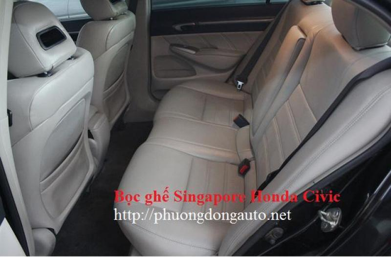 Bọc ghế da Singapore HONDA CIVIC | Khuyến mãi sàn da + Dọn nội thất