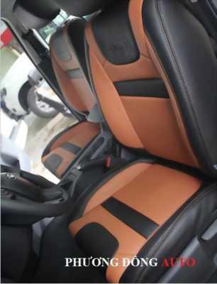 Bọc độ ghế da thật CN thái lan Ford Ranger 2015 (Đỏ-đen)
