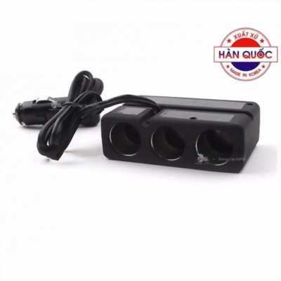 Bộ Chia USB 3 Cổng Bật Tắt Ô Tô Zingaro DL-803S