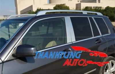 Nẹp inox viền khung kính cho Mercedes GLK tinh tế hơn
