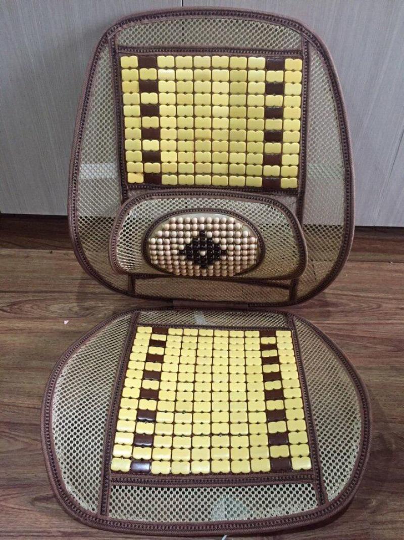 Tấm lót ghế hạt gỗ ô tô
