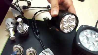 Đèn led  gắn cho xe máy