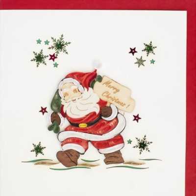 Quà tặng giáng sinh, thiêp giấy cuốn ngày noel