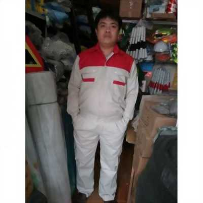 Quần áo bảo hộ xám đỏ