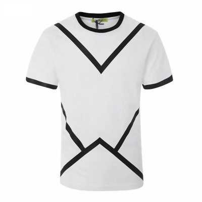 Áo thun trắng viền đường kẻ đen AT0046