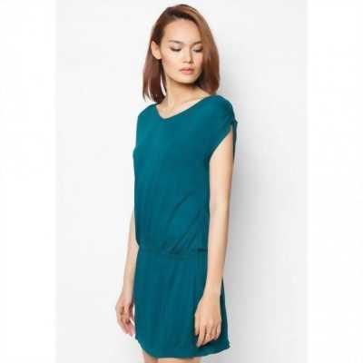 Đầm dây rút eo xanh Coban Cirino