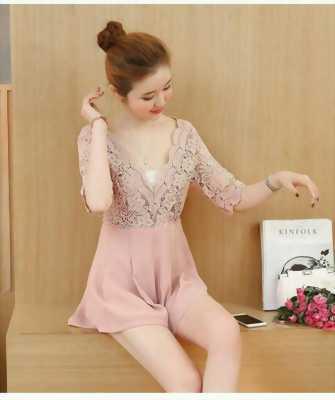 Đầm váy short phối ren hàng thiết kế
