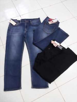 Quần jeans Arma nam trơn màu xanh đương đậm đơn giản wax trắng nhẹ - Mã QJ0001 - Hàng VNXK xịn