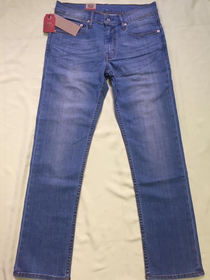 Quần jeans Lvis 514 nam trơn màu xanh dương lợt