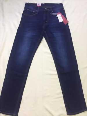 Quần jeans Lvis 511 nam xanh dương đậm wax nhẹ